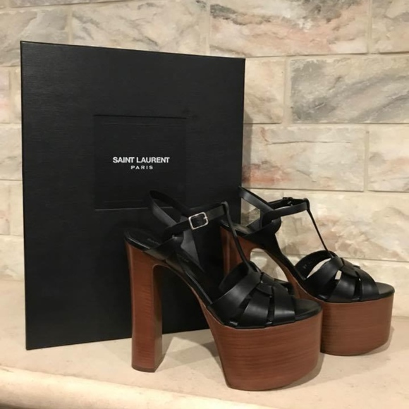 e5f89a5388 Saint Laurent YSL Tribute Betty 80 Black Sandal Boutique